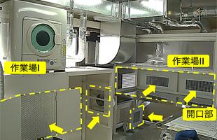 公的検査機関の局所排気装置