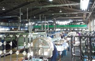 クリーニング工場の暑熱対策