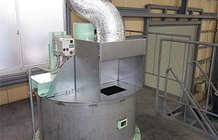 塗料製造工場の局所排気装置