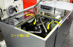 既存施設を活用した局所排気装置